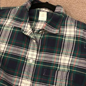 New J. Crew classic flannel button up boy fit